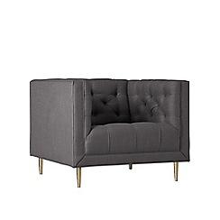 Swoon - Brushed linen-cotton 'Vincent' armchair