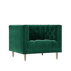 Swoon - Deep velvet 'Vincent' armchair