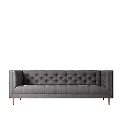 Swoon - Three-seater brushed linen-cotton 'Vincent' sofa