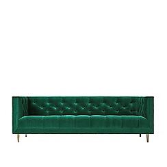 Swoon - Three-seater deep velvet 'Vincent' sofa