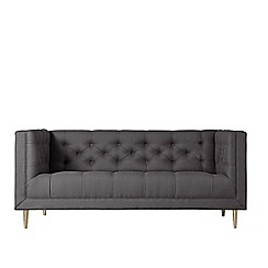 Swoon - Two-seater brushed linen-cotton 'Vincent' sofa