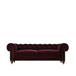 Swoon - Three-seater deep velvet 'Winston' sofa