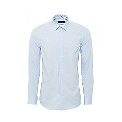 QUIZMAN - Blue long sleeve slim fit shirt