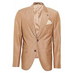 QUIZMAN - Stone linen slim fit blazer