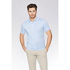 QUIZMAN - Light blue slim fit polo shirt