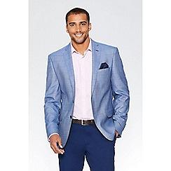 QUIZMAN - Alex's light blue grid check slim fit blazer