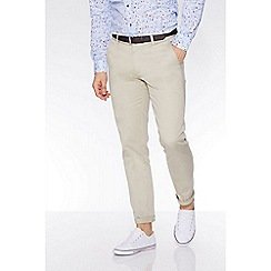 QUIZMAN - Alex's stone slim fit stretch chinos