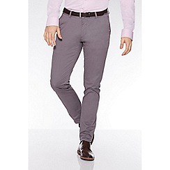 QUIZMAN - Grey stretch slim fit chinos