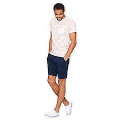QUIZMAN - Pink palm print slim fit t-shirt