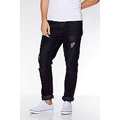 QUIZMAN - Dark blue ripped detail slim fit jeans
