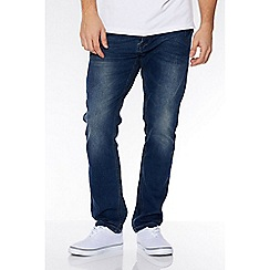 QUIZMAN - Blue abrasion slim fit jeans