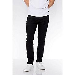 QUIZMAN - Black stretch denim slim fit jeans