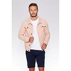QUIZMAN - Dusk pink ripped denim slim fit jacket