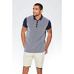 QUIZMAN - Navy contrast tipping slim fit polo shirt