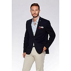 QUIZMAN - Navy cotton blend slim fit blazer