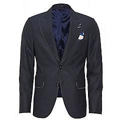 QUIZMAN - Navy linen slim fit blazer