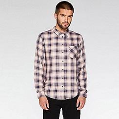 QUIZMAN - Pink and black long sleeve check regular fit shirt