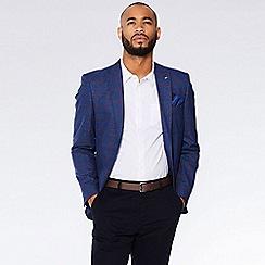 QUIZMAN - Navy and red check regular fit blazer
