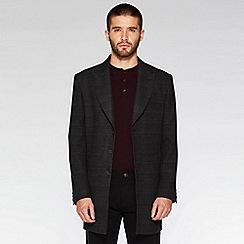 QUIZMAN - Black and grey checked long coat