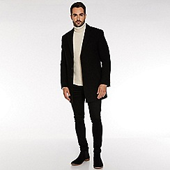 QUIZMAN - Black plain long coat