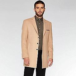 QUIZMAN - Camel plain long slim fit coat