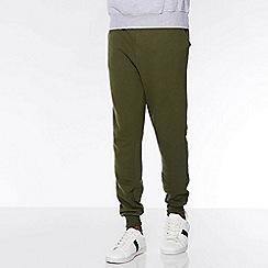 QUIZMAN - Khaki cotton slim fit track pant