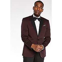 QUIZMAN - Burgundy slim fit tux jacket