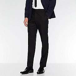 QUIZMAN - Black satin side stripe slim fit trousers