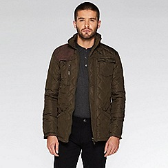 QUIZMAN - Olive quilted cord should patch regular fit jacket