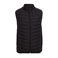 QUIZMAN - Black lightweight padded regular fit gilet