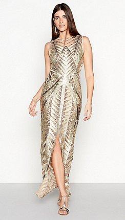 9bc3b968e6c Star by Julien Macdonald - Gold Sequin  Wow  Maxi Dress