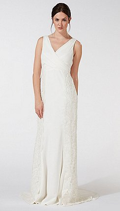Wedding dresses debenhams debut ivory rosie lace embellished wedding dress junglespirit Choice Image