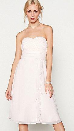 092f991103 Debut - Pink chiffon 'Sara' high low bridesmaid dress