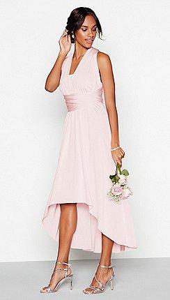 Debut - Blush multiway high low dress