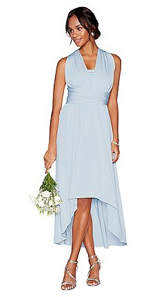 Blue wedding guest dresses debenhams debut light blue multiway high low dress junglespirit Choice Image