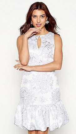 Debut Lilac Fl Jacquard Florence Sleeveless Mini Dress
