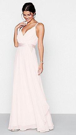 Pink wedding guest dresses debenhams 1 jenny packham pink chiffon v neck sleeveless dress junglespirit Image collections