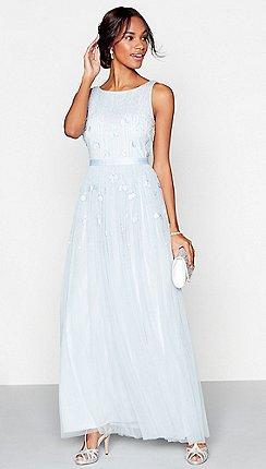1 Jenny Packham Pale Blue Gie Full Length Dress