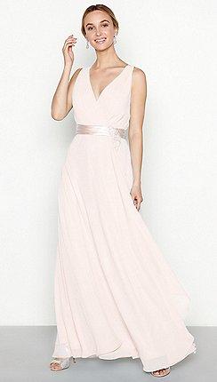 1 Jenny Packham Pink Chiffon Maxi Waterfall Dress