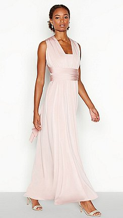 Debut - Rose Pink Multiway Maxi Dress af3ae2ab26e0