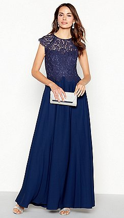 Debut - Dark blue  olivia  floral lace maxi dress 3ea7e8a6645f