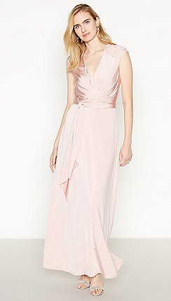 4ce32b860e4 Debut - Rose Pink Lace Back  Liza  Maxi Dress