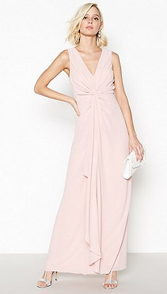 a73c4ae0437 Debut - Rose Pink Chiffon  Petra  Twist Front Maxi Dress