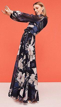 Long sleeves - Maxi dresses - Dresses - Women  31702e4c53