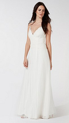 Debut Ivory Alicia V Neck Wedding Dress