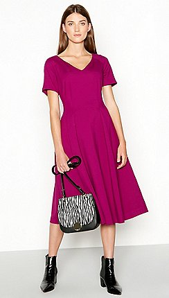 J By Jasper Conran Pink Seamed Knee Length Ponte Dress