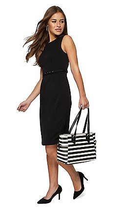 6457f7c3d38 The Collection Petite - Black sleeveless knee length petite pencil dress