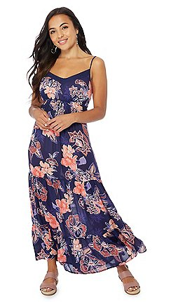 a9cde9ab7ac The Collection Petite - Navy floral print V-neck petite maxi dress