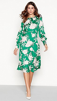 d75bfdc33d The Collection - Green floral print midi dress