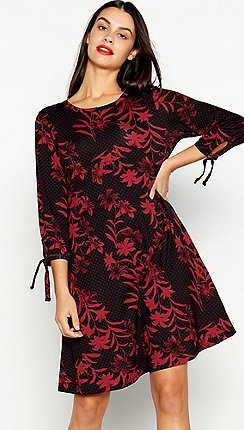 The Collection - Black Floral Print Swing Dress 7cd3f4d859